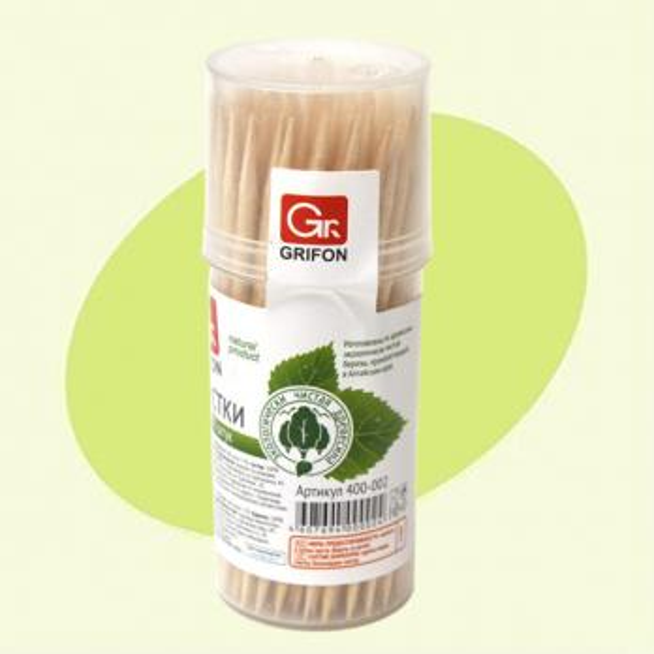 Зубочистки деревянные GRIFON 100шт Успех Плюс
